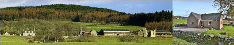 Cluny Crichton is a commercial farm with self catering holiday accommodation and farm walks  at Banchory, Royal Deeside Aberdeenshire Scotland