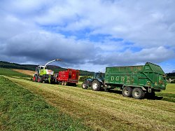 Silage making at Cluny Crichton